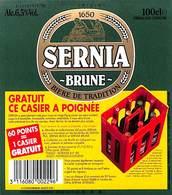 Lot 27 Etiquettes Sernia Bière De Tradition Brune - Beer