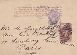 GRANDE BRETAGNE ENTIER POSTAL OBLITERE BIRMINGHAM 75  RARE !!! - Stamped Stationery, Airletters & Aerogrammes