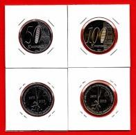 # ANGOLA 2 Piéces De Monnaie (50 Et 100 Kwanzas) 2015 UNC 40eme Anniversaire Independence National - Angola