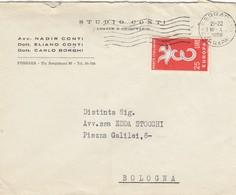 9466-BUSTA INTESTATA PUBBLICITARIA STUDIO CONTI - FERRARA - Pubblicitari