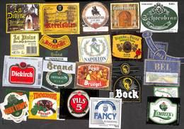 Lot 20 Etiquettes Bière (Imperator La DIvine Fancy Timmermans Blonde Des Pères Napoléon..) (Lot 2) - Bière