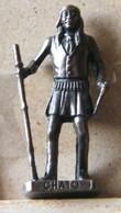 MONDOSORPRESA, (SLDN°118) KINDER FERRERO, SOLDATINI IN METALLO INDIANI SECONDA SERIE, CHATO, 40 MM VECCHIO BRUNITO - Metal Figurines