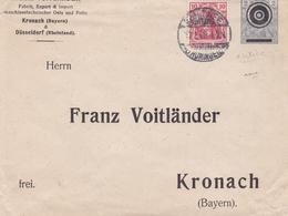 ALLEMAGNE ENTIER POSTAL PRIVE FRANZ VOITLANDER KRONACH ET DUSSELDORF  RARE !!! - Allemagne