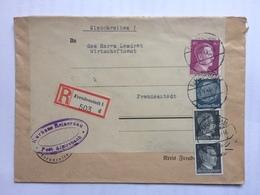 GERMANY 1943 Registered Freudenstadt Cover With Kurhaus Reinerzau Post Alpirsbach Cachet - Deutschland