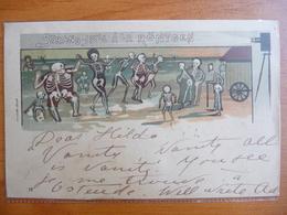 CPA -  Strand JDYLL à La Röntgen - 12 - Squelettes Dansant Sur La Plage - 1900-1949