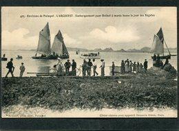 CPA - Environs De PAIMPOL - L'ARCOUEST - Embarquement Pour Bréhat à Marée Basse Le Jour Des Régates, Très Animé - Paimpol