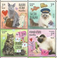 HR 2018-1303-6 CATS, HRVATSKA CROATIA, 1 X 4v, MNH - Croatie