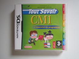 JEU Nintendo DS Tout Savoir CM1 L'essentiel Du Programme - Nintendo Game Boy