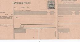 ALLEMAGNE ENTIER POSTAL SURCHARGE PLEBISCITE OLSZTYN ALLENSTEIN DEUTSCHES REICH 40 DOUBLE FEUILLET RARE !!! - Allemagne