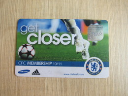 Chelsea Football Club Membership Card 2010-2011,with A Little Scratch - Soccer