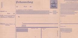 ALLEMAGNE ENTIER POSTAL SURCHARGE PLEBISCITE OLSZTYN ALLENSTEIN DEUTSCHES REICH 20 DOUBLE FEUILLET RARE !!! - Allemagne