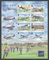 V287 2010 ASCENSION ISLAND AVIATION WAR THE FEW THE BATTLE OF BRITAIN #1110-7 !!! MICHEL 16 EURO !!! 1KB MNH - Vliegtuigen