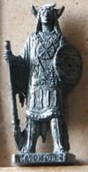 MONDOSORPRESA, (SLDN°122) KINDER FERRERO, SOLDATINI IN METALLO INDIANI PRIMA SERIE, MATO TOPE  40 MM VECCHIO ARGENTO - Figurine In Metallo