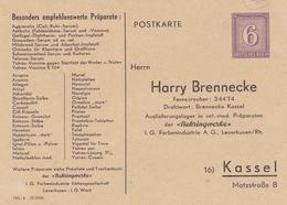 ALLEMAGNE ENTIER POSTAL PRIVE POSTKARTE DEUTSCHES REICH 6 HARRY BRENNECKE KASSEL RARE !!! - Deutschland