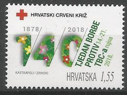 HR 2018-ZZ02 RED CROSS TBC, HRVATSKA CROATIA, 1 X 1v, MNH - Kroatië