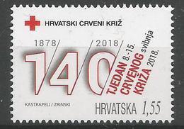 HR 2018-ZZ01 RED CROSS, HRVATSKA CROATIA, 1 X 1v, MNH - Croatie