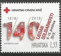 HR 2018-ZZ03 RED CROSS SOLIDARNOST, HRVATSKA CROATIA, 1 X 1v, MNH - Croacia