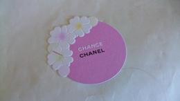 Carte Parfumée Chanel Chance Avec Fleur Découpée - Perfume Cards