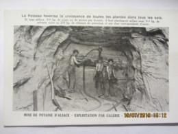 Cpa PUB La Potasse  D'Alsace  -Mine De Potasse Exploitation Par Galerie- Haveuse En Action - Unclassified
