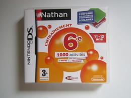 JEU NINTENDO DS Entrainement 6e Nathan Maths Et Français 11-12 Ans - Nintendo Game Boy