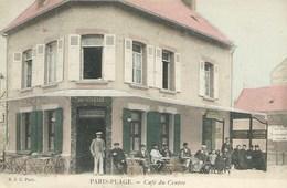 Le Touquet - Paris Plage - Café Du Centre ( Superbe Carte Précurseur Animée ) - Le Touquet