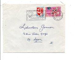 AFFRANCHISSEMENT COMPOSE SUR LETTRE DE PARIS GARE DU NORD 1968 - Marcophilie (Lettres)