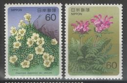 Japon - YT 1571-1572 ** - 1986 - Flore - 1926-89 Emperor Hirohito (Showa Era)