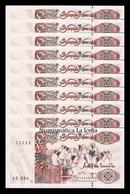 Argelia Lot Bundle 10 Banknotes  200 Dinars 1992 Pick 138 Second Sign SC UNC - Argelia