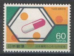 Japon - YT 1584 ** - 1986 - Pharmacie - 1926-89 Emperor Hirohito (Showa Era)
