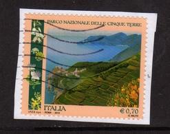 ITALY REPUBLIC ITALIA REPUBBLICA 2013 PARCO NAZIONALE DELLE CINQUE TERRE € 0,70 USATO USED OBLITERE' - 6. 1946-.. Repubblica