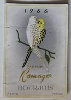 Calendrier 1966 Parfum Ramage Bourjois Paris R. Savary Coiffeur Parfumeur à Sourdeval - Calendriers