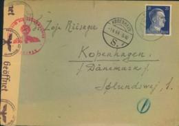 1944, Brief Aus UMSIDLUNGSLAGER KONRADSTEIN Nach Kopenhagen, Zensur - Allemagne