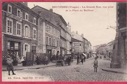 CPA 88 BRUYERES La Grande Rue Vue Prise De La Place Du Bailleux - Bruyeres