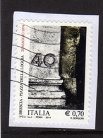 ITALIA REPUBBLICA ITALY REPUBLIC 2014 STRAGE DI PIAZZA DELLA LOGGIA A BRESCIA USATO USED OBLITERE' - 6. 1946-.. Repubblica