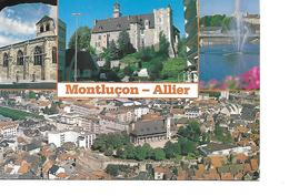 03 MONTLUCON Cpm Multivues - Montlucon