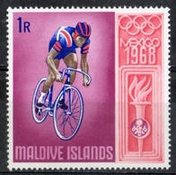 Maldive 1968 - Giochi Olimpici Mexico City Olympic Games Ciclismo Bicycling  MNH ** - Maldivas (1965-...)