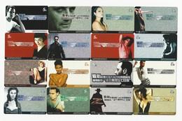 French Film Festival, Film Stars, A Set Of 26 Cards (Demi Moore,Catherine Zeta-Jones,Pierce Brendan Bosnan,and So On) - Cina