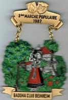 Marche Populaire Internationale  Badona Club Beinheim 1987 - Entriegelungschips Und Medaillen