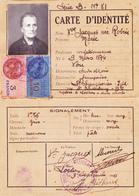 CARTE D'IDENTITE Veuve JACQUET Marie Née Robin Le 9 Mars 1874 à You (37) Demeurant à Saint Symphorien Guerre 1939 1943 - 1939-45