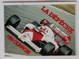 Calendrier Voiture 1985 Formule 1 F1 MclarenMarlboro World Championship Dépêche Du Midi - Calendriers