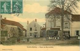 77 - QUINCY VOISINS - Place Du Marronnier - Marchand De Vins Dudot - Toilée Couleur 1908 - Autres Communes