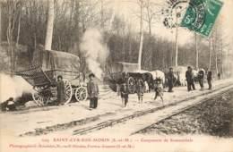 77 - SAINT CYR SUR MORIN - Campement De Romanichels (TOP) Roulottes, Gens Du Voyage Et Gendarmes - Bohémiens Gitans - Autres Communes