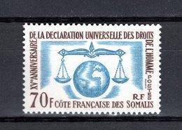 COTE DES SOMALIS  N° 318  NEUF SANS CHARNIERE COTE 10.00€   DROITS DE L'HOMME - Unused Stamps
