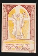 HEER , MOGE HET EEUWIGE LICHT HEN BESCHIJNEN    11 X 7.5 CM - Images Religieuses