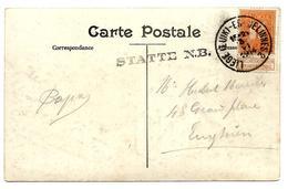 LE0003. NORD BELGE. N° 108 LIEGE(LUIK)-ERQUELINNES 2 - 3.VI.14 + GRIFFE STATTE N.B.vers Enghien. RARE. TB - Ambulants