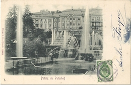 CPA Russie Россия Palais De Peterhof - Петергофский дворец - Rusland