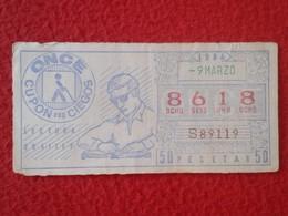 CUPÓN DE ONCE SPANISH LOTTERY LOTERIE SPAIN LOTERÍA ESPAÑA BLIND 1984 PRO CIEGOS LECTURA BRAILLE READING VER FOTO/S Y DE - Billetes De Lotería
