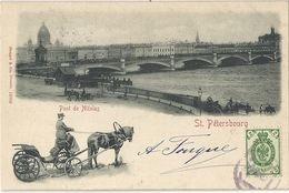 CPA Russie Россия Pont De Nicolas à St Petersbourg - Никольский мост в Санкт-Петербурге - Russia