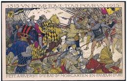 Svizzera/Suisse/Switzerland: Intero, Stationery, Entier, Battaglia Di Morgarten, Battle Of Morgarten, Bataille De Morgar - Storia