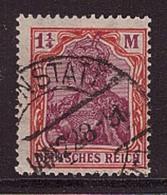 Deutsches Reich 151 Y Gestempelt Geprüft Attest Germania  WZ Kreuzblüten (21885) - Germania